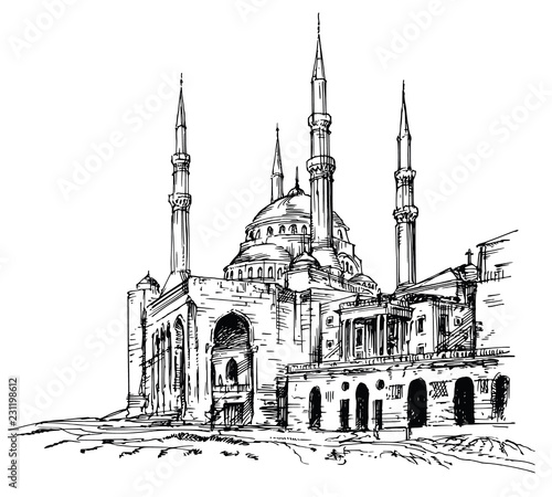 Canvas Print Mohammad Al-Amin Mosque in Beirut, Lebanon.