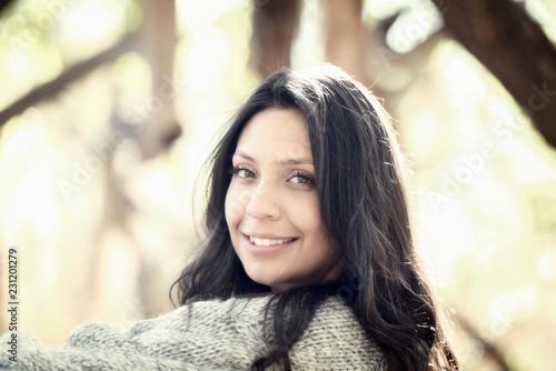 Photo  Beautiful Young Millennial Hispanic, American Indian, Multi-racial Woman Portrai