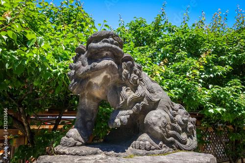 Staande foto Asia land Komainu lion dog statue, Tokyo, Japan