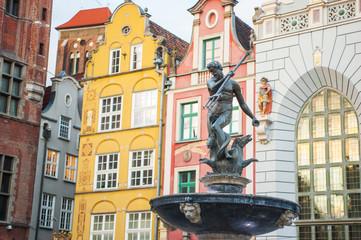 Fototapeta Gdańsk Il centro di Danzica, Polonia