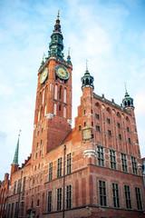 Fototapeta Gdańsk Il municipio di Danzica, Polonia