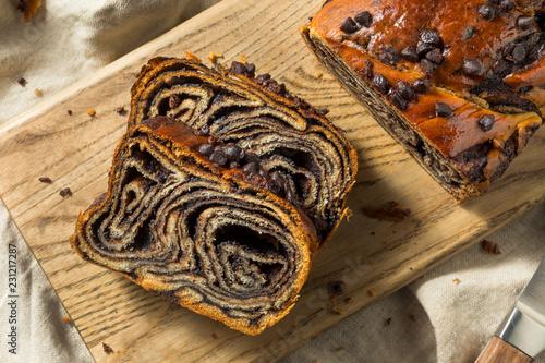 Leinwand Poster Sweet Homemade Chocolate Babka Bread