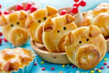 Pig Buns, Piggy Dinner Rolls, ...