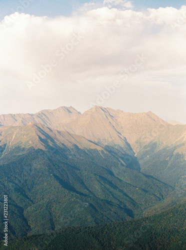 Mountain ridge?in sunlight