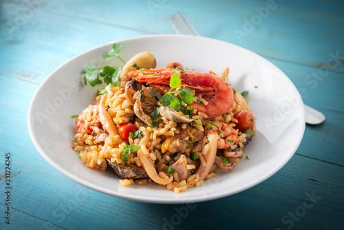 Risotto alla pescatora, Italian food