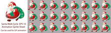 Christmas Santa Walk Cycle Ani...