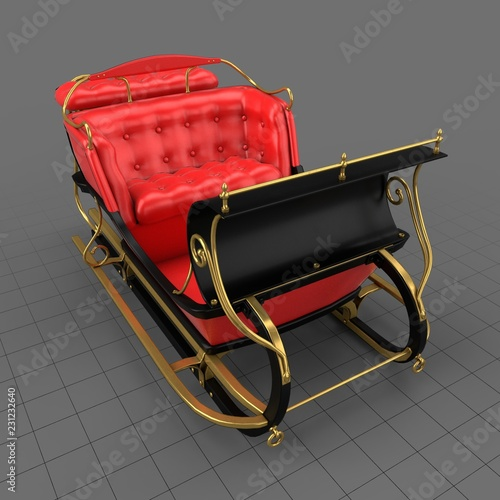 Sleigh  Buy this stock 3d asset and explore similar assets