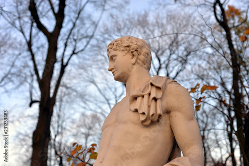 Deurstickers Historisch mon. Statue of Antinous in Summer Garden.