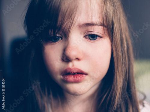 Fotografia sad offended girl  cries