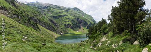 Panorama Green Lake, Luchon, Pireneje, Francja