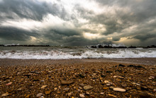 Sea And Black Sky