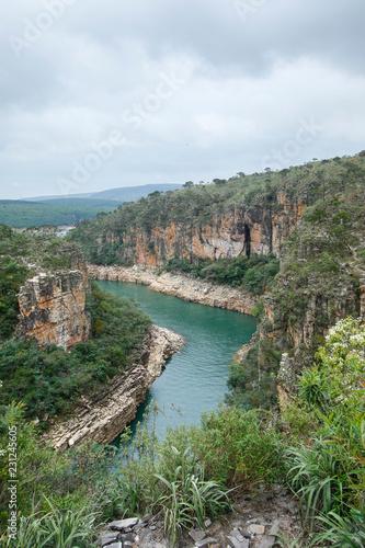 In de dag Canyon Capitolio Minas Gerais - View of Furnas Canyon