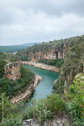 Foto op Canvas Canyon Capitolio Minas Gerais - View of Furnas Canyon