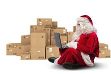 Technological Santa Claus Sitt...