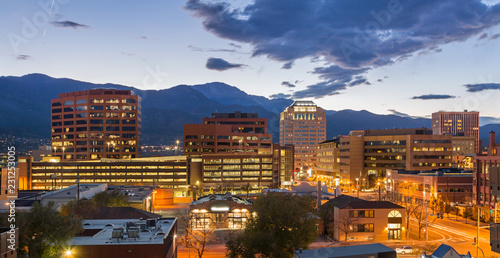 Fotografie, Obraz  Downtown Colorado Springs at Dusk