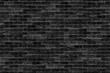 seamless old dark black brick wall infinity texture design pattern background