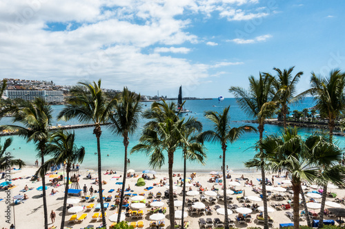 Fotobehang Canarische Eilanden Anfi Del Mar Beach. Gran Canaria. Canary Islands
