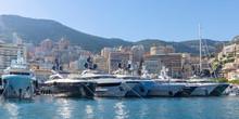 Yachts Moored In Monaco Harbou...