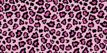 Pink And Black Leopard Skin Fu...