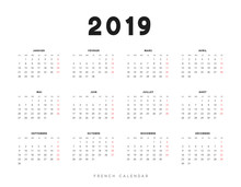 Simple French Calendar For 201...