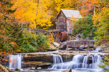 FototapetaGlade Creek Gristmill, West Virginia, USA in Autumn