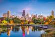 Leinwandbild Motiv Lincoln Park, Chicago, Illinois Skyline