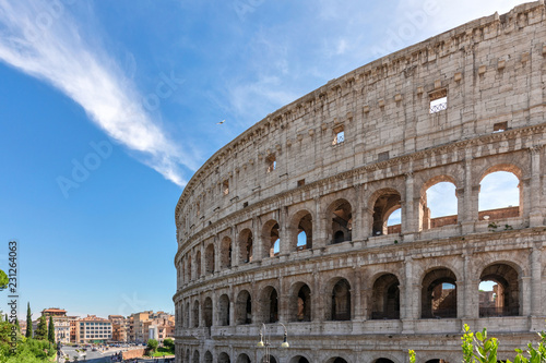 Photo  Coliseum with cloud - Rome