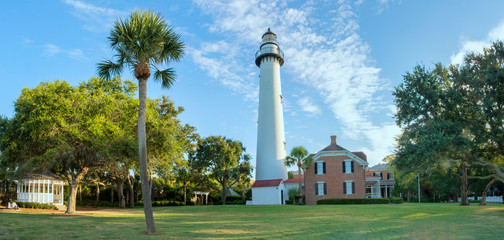 Lighthouse in the early morning on St Simons Island, GA