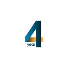 4 Year Anniversary Vector Temp...