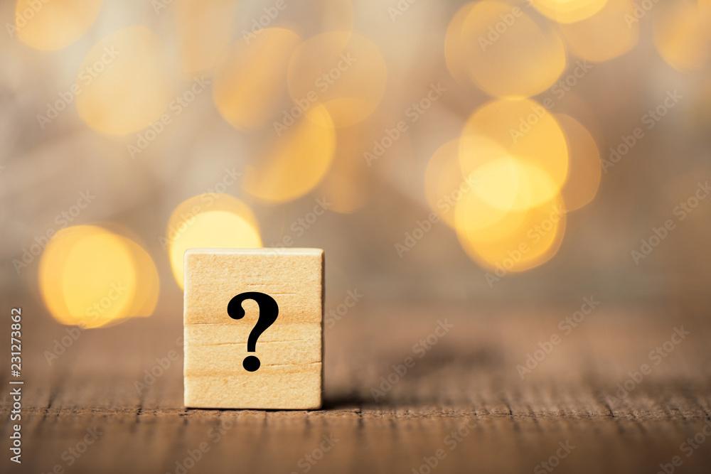 Fototapeta Question Mark Block
