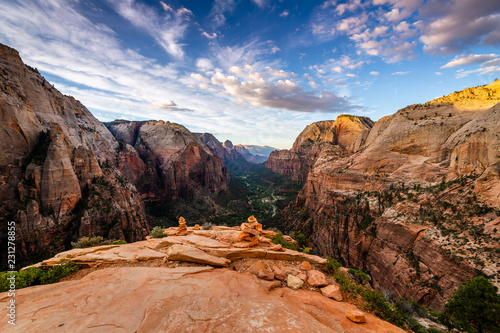 Canvas-taulu Angels Landing at Dawn