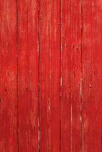 Vertical Rustic Red Timber Door