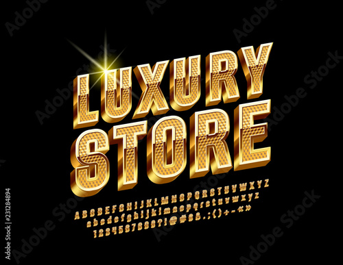 Photographie  Golden border and pattern chic Logo for Luxury Store