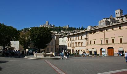 Fototapeta na wymiar Centro storico di Assisi