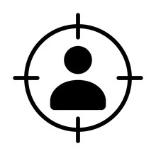 Marketing Targeting A User Or Sniper Sniping Flat Vector Icon For Apps And Websites