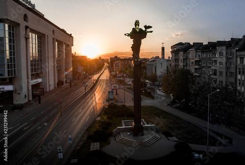 Saint Sofia Statue in downtown Sofia, Bulgaria