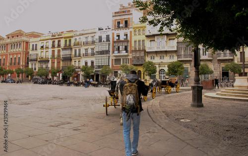 Fotografie, Obraz  De mochilero