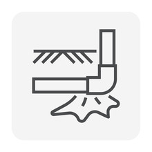 Burst Pipe Icon