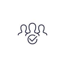 Membership Line Icon On White