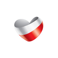 Fototapeta Poland flag, vector illustration on a white background
