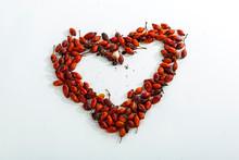 Rosehip Berries Dried Heart Shape