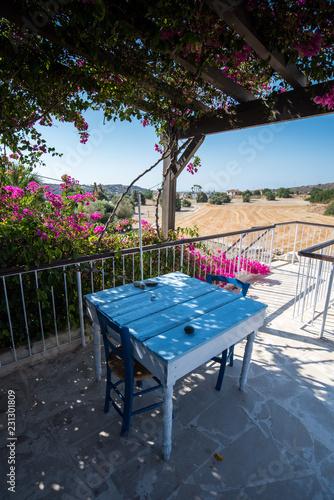 Deurstickers Cyprus Veranda Zypern