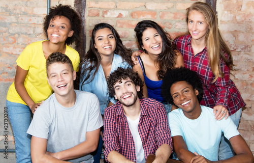 Fotografie, Obraz  Portrait of group of latin and african american young adult people