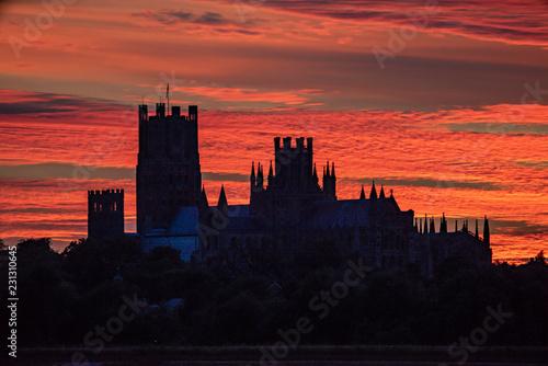 Fotografie, Tablou Sunset behind Ely Cathedral, 23rd June 2018