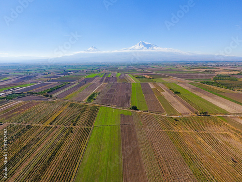 A scenic view of Mout Ararat from Armenia