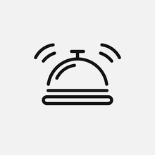 Hotel Bell Icon Isolated On Wh...