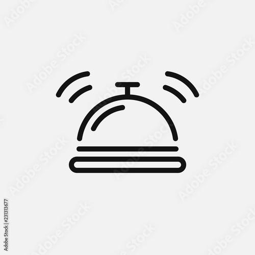 Obraz na plátně Hotel bell icon isolated on white background