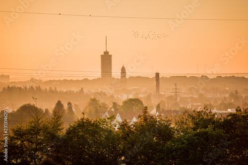 Poster Cracovie Skyline