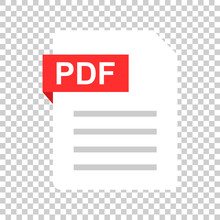 Pdf Document Note Icon In Flat...