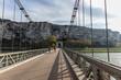 Le pont du Robinet relie la Drôme et l'Ardèche par dessus le Rhône